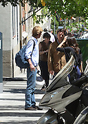 MADRID, SPAIN, 2016, JUNE 01 Christian Hannover, son of Ernest of Hanover, ex-husband of Princess Caroline of Monaco, and his girlfriend, Alessandra de Osma have become one of the couples of the moment, converted into two more residents of the city of Madrid, where they have installed his residence. Coinciding with a deserved rest in their professional duties, the couple enjoyed a walk through the streets of the capital. She chose a summery look and very relaxed with a large fishing pants, sandals and camisole French sleeve. They stopped at a cafe where they enjoyed a snack while awaiting the arrival of a friend. Beside him they left the premises and left leisurely stroll. Christian de Hannover and his girlfriend, Alessandra de Osma landed in the capital over four years to complete their training and try your luck in the business world. While the son of Ernest of Hanover had left her job in Dubai for a Masters in Business Administration so they can be closer to his girlfriend, the model is dedicated to Peruvian law. The young man, still maintains a great relationship with Carolina and their children, but especially with her sister Alejandra. He is the youngest son of Prince Ernst of Hanover and his first wife, the Swiss heiress Chantal Hochuli<br /> ©Exclusivepix Media