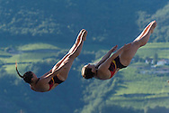 Team GERMANY - SUBSCHINSKI Nora PUNZEL Tina <br /> Bolzano, Italy <br /> 22nd FINA Diving Grand Prix 2016 Trofeo Unipol<br /> Diving<br /> Women's 3m synchronised springboard final <br /> Day 01 15-07-2016<br /> Photo Giorgio Perottino/Deepbluemedia/Insidefoto