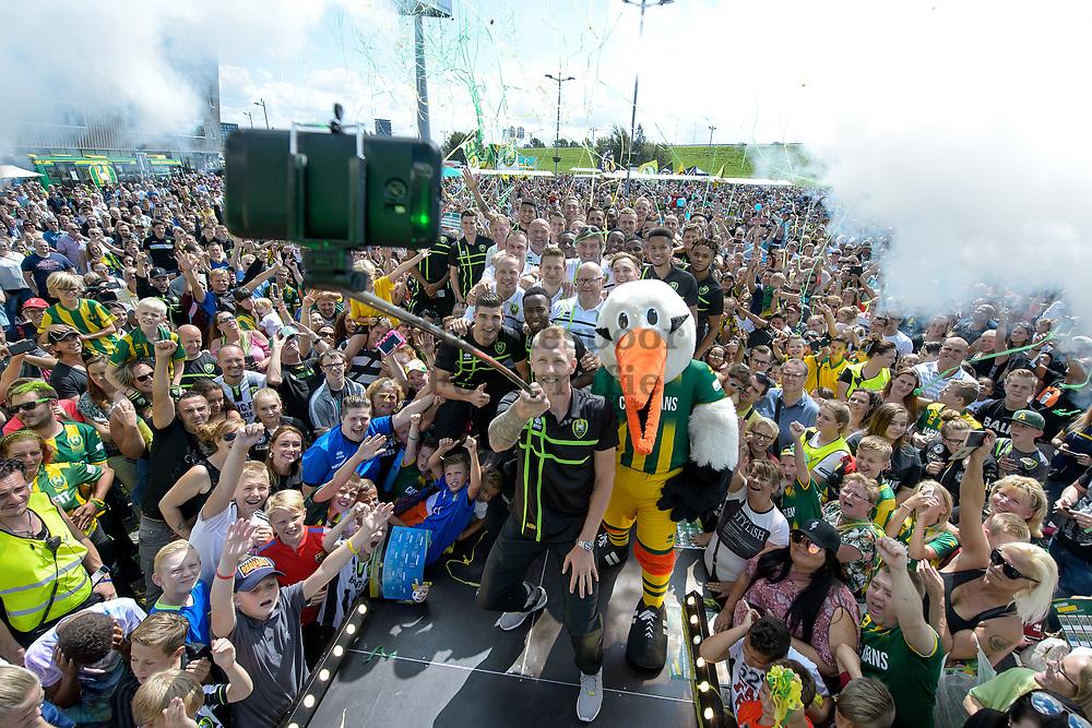 (L-R) fan day ADO Den Haag