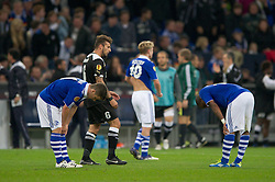 03.11.2011, Veltins Arena, Gelsenkirchen, GER, UEFA Europa League, FC Schalke 04 (GER) vs AEK Larnaca FC (CYP), im Bild Alexander Baumjohann (#11 Schalke) und Jefferson Farfan (#17 Schalke) nach dem Spiel // during FC Schalke 04 (GER) vs AEK Larnaca FC (CYP) at Veltins Arena, Gelsenkirchen, GER, 2011-11-03. EXPA Pictures © 2011, PhotoCredit: EXPA/ nph/  Kurth       ****** out of GER / CRO  / BEL ******