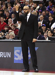 New York Knicks head coach David Fizdale during the NBA London Game 2019 at the O2 Arena, London.