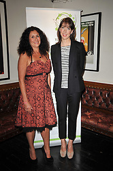 Left to right,  JO MANUEL - founder of The Special Yoga Centre and SAMANTHA CAMERON at The Special Yoga Centre's annual art auction held at the 20th Century Theatre, 291 Westbourne Grove, London W11 on 16th May 2011.