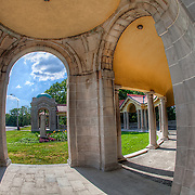 The Colonnade near the Cliff Drive Scenic By-way in the Old Northeast section of Kansas City, Missouri.