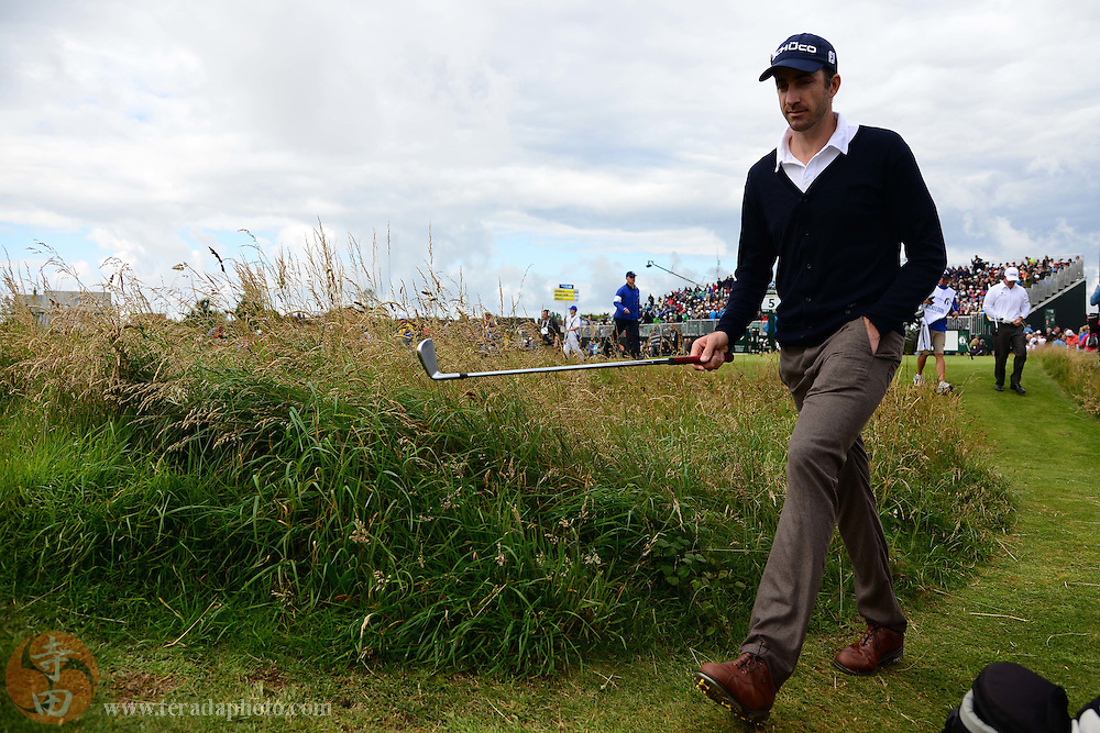 July 20, 2012; St. Annes, ENGLAND; Geoff Ogilvy walks to the green on the 5th hole during the second round of the 2012 British Open Championship at Royal Lytham & St. Annes Golf Club.