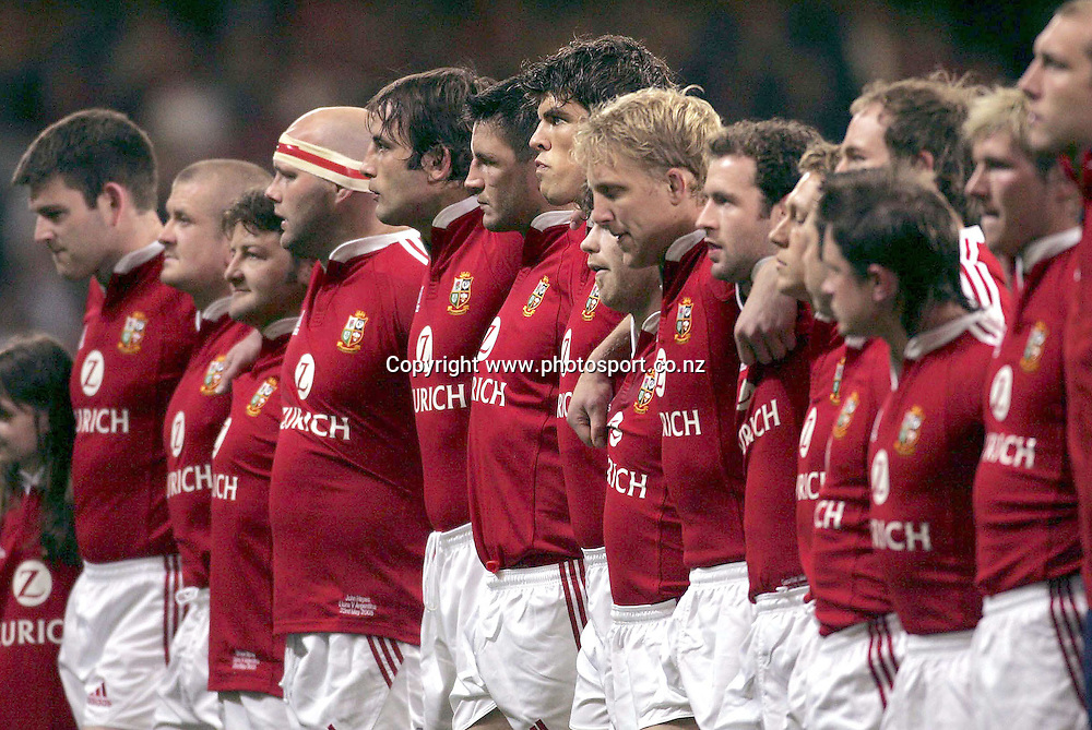 British and Irish Lions vs Argentina, Millennium Stadium, Cardiff  23/5/2005<br />The Lions team lines up<br />Mandatory Credit &copy;INPHO/Billy Stickland