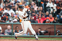 SAN FRANCISCO, CA - APRIL 09:  Ehire Adrianza #13 of the San Francisco Giants hits a home run against the Los Angeles Dodgers during the fifth inning at AT&T Park on April 9, 2016 in San Francisco, California.  (Photo by Jason O. Watson/Getty Images) *** Local Caption *** Ehire Adrianza
