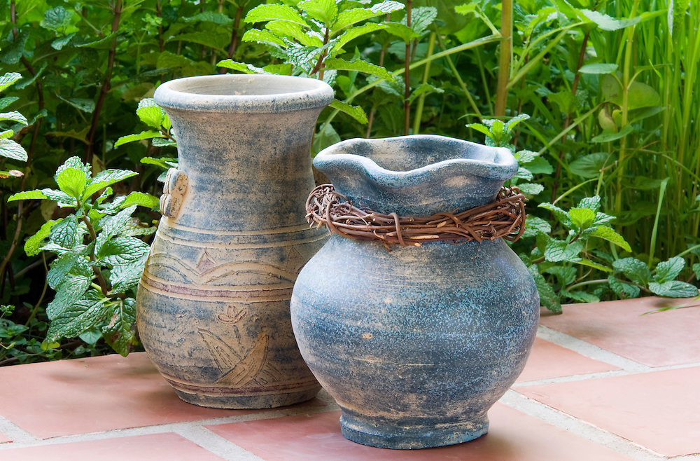 Hand thrown ceramic pottery. Traditional produce on the island of La Gomera, Canary Islands