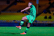 Forest Green Rovers Dayle Grubb(8)with a free kick during the EFL Sky Bet League 2 match between Port Vale and Forest Green Rovers at Vale Park, Burslem, England on 20 August 2019.