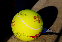 Ball at 1st Round of Banka Koper Slovenia Open WTA Tour tennis tournament, on July 21 2009, in Portoroz / Portorose, Slovenia. (Photo by Vid Ponikvar / Sportida)