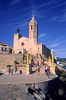 Parish Church of Sant Bartomeu and Santa Tecla, Sitges Catalunya Spain....travel, lifestyle