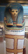 Coffin of the singer Harmose. New Kingdom 18th Dynasty from the reign of Hatshepsut and Thutmose III. Circa. 1473–1458 B.C. Egypt, Upper Egypt; Thebes, Ilwet el-Sheikh Abdel-Qurna, Tomb of Senenmut. Medium: Wood, gesso, paint, gold
