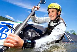 Eva Alina Hocevar, 18 years old kayak and canoe athlete during practice session in Tacen, Ljubljana, Slovenia. Photo by Matic Klansek Velej / Sportida