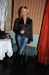 Actress TINA HOBLEY at a party hosted by Westfield and the British Fashion Council to celebrate Fashion Forward held at Home House, 20 Portman Square, London W1 on 30th January 2007.<br />