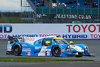 Alexandre Cougnaud (FRA) / Yann Ehrlacher (FRA) Thomas Laurent (FRA)  #18 M.Racing YMR, Ligier JS P3, Nissan VK50VE 5.0 L V8, during the Race  as part of the ELMS 4 Hours of Silverstone 2016 at Silverstone, Towcester, Northamptonshire, United Kingdom. April 16 2016. World Copyright Peter Taylor. Copy of publication required for printed pictures.