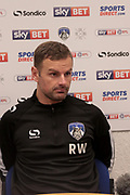 Richie Wellens Oldham Manager after the EFL Sky Bet League 1 match between Oldham Athletic and Scunthorpe United at Boundary Park, Oldham, England on 28 October 2017. Photo by George Franks.