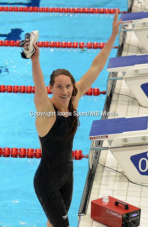 Camille Muffat - Finale 400m nage libre - 29.07.2012 - Natation - Jeux Olympiques Londres 2012<br /> Photo : Liu Dawei / Photoshot / Icon Sport