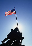 The Iwo Jima Memorial. Photograph made in 1994.<br /> <br /> Photo by Dennis Brack