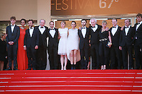 The cast at the Two Days, One Night (Deux Jours, Une Nuit) gala screening red carpet at the 67th Cannes Film Festival France. Tuesday 20th May 2014 in Cannes Film Festival, France.