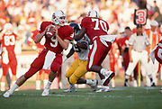 COLLEGE FOOTBALL:  Stanford vs Cal in the 92nd Big Game, November 18, 1989 at Stanford Stadium in Palo Alto, California.  Steve Smith #9.   Photograph by David Madison (www.davidmadison.com).
