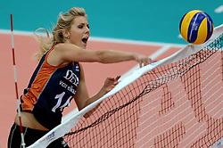01-10-2014 ITA: World Championship Volleyball Servie - Nederland, Verona<br /> Nederland verliest met 3-0 van Servie en is kansloos voor plaatsing final 6 / Laura Dijkema