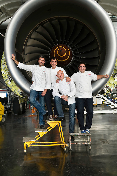 Paco Roncero(NH), Ramon Freixa, Dani Garcia (Calima) y Toño Perez (Atrio), chefs de Iberia.