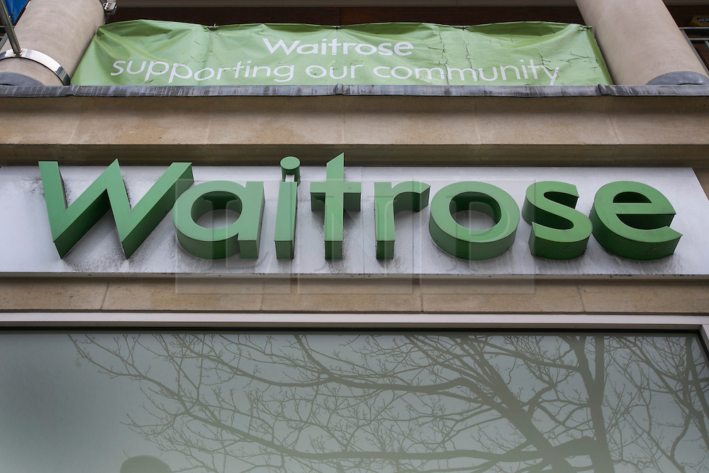 © licensed to London News Pictures. London, UK 13/02/2013. A Waitrose branch in London pictured. Frozen packs of 16 beef meatballs from Essentials range removed from sale. Meatballs labelled as being made from beef contained pork. Photo credit: Tolga Akmen/LNP