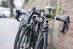 Cylance's Cannondale's rest patiently on the city walls of Siena - 2016 Strade Bianche - Elite Women, a 121km road race from Siena to Piazza del Campo on March 5, 2016 in Tuscany, Italy.