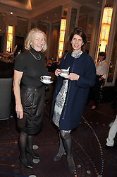 Left to right, and EMMA MARSH at a tea party to held at The Langham Hotel, Portland Place, London with tea inspired by Theo Fennell held on 25th April 2013.