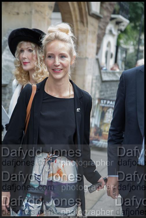BASIA BRIGGS; RUTH POWYS, Memorial service for Mark Shand.  . St. Paul's Knightsbridge. September 11 2014.