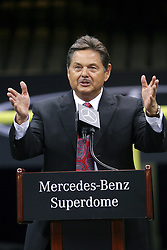 04 October 2011. New Orleans, Louisiana, USA.  <br /> Mercedes-Benz USA President and CEO Ernst Leib. NFL's New Orleans Saints announce a multi million dollar deal with Mercedes-Benz for naming rights on the Louisiana Superdome. Now the Mercedes-Benz Superdome.  <br /> Photos; Charlie Varley/varleypix.com