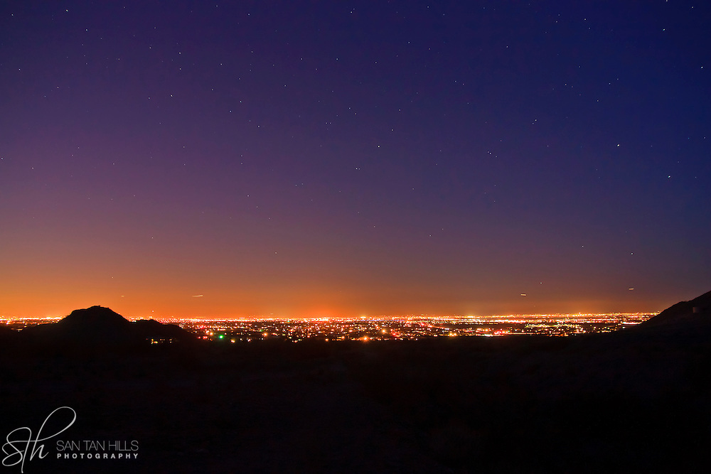 The South East Valley by night - view from San Tan Regional Park, Queen Creek, AZ