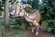 """Roma 30 Dicembre 2014<br /> """"Dinosauri in Carne e Ossa"""", mostra di dinosauri e altri animali preistorici estinti, a grandezza naturale, allestita dall' Associazione paleontologica ambientale, all'Università La Sapienza di Roma. La mostra sara aperta fino al 31 Maggio 2015. La scultura di un Parasaurolophus walkeri.<br /> Rome December 30, 2014<br /> """"Dinosaurs in Flesh and Bones"""", an exhibition of dinosaurs and other prehistoric animals extinct, to life-sized, prepared by Association paleontological environmental, a La Sapienza University of Rome. The exhibition will be open until May 31, 2015. The sculpture of Parasaurolophus walkeri."""