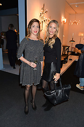 Left to right, LUCIANA RIQUE and JESSICA SIMON at the PAD London 10th Anniversary Collector's Preview, Berkeley Square, London on 3rd October 2016.