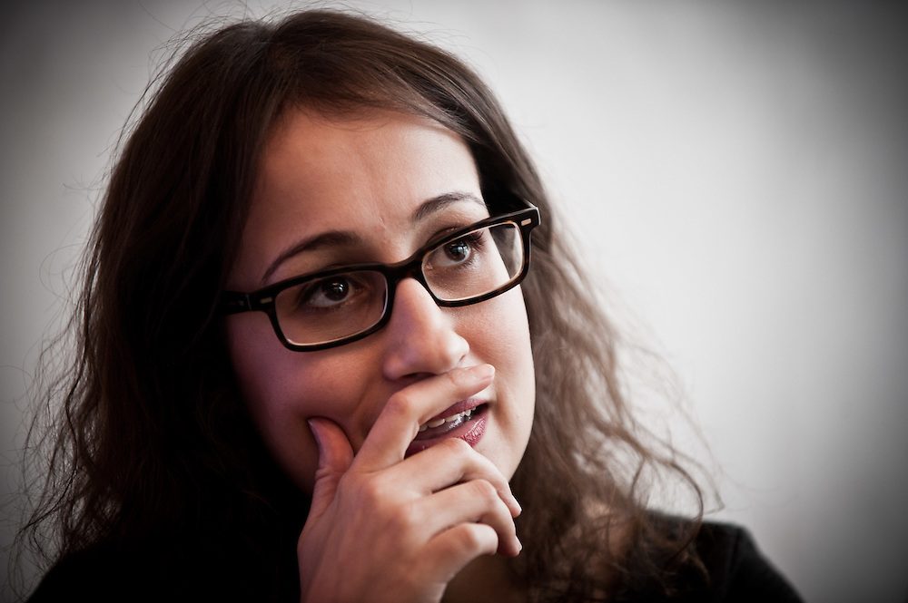Tunisian human rights activist and blogger, Amira Yahyaoui in a portrait in Dubai, UAE on Sunday, December 18, 2011. Yahyaoui is in Dubai to speak at the Dubai Debates panel event on the topic, 'Women, Civil Society and Leadership in the New Arab World'