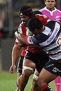 Jordan Taufua. Crusaders v Rebels. Super Rugby. Christchurch, New Zealand. Friday 13 February 2015. Copyright Photo: Andrew Cornaga / www.photosport.co.nz