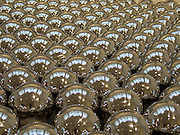 reflective chrome balls  - close up of installation Narcissus garden by Yayoi Kusama 2004