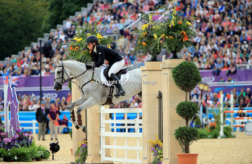 Equestrian, 3 Day Eventing, London 2012 Olympic Games, Greenwich Park, London, England 31/7/2012<br /> Showjumping <br /> New Zealand's Caroline Powell on Lenamore<br /> Mandatory Credit &copy;INPHO/Dan Sheridan