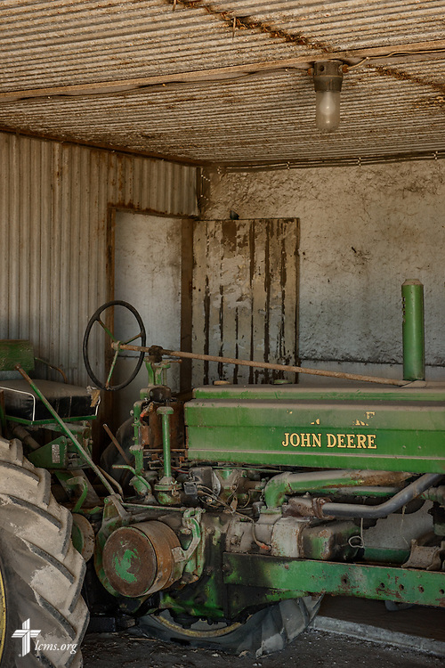 An antique tractor at the Rev. Steven Struecker's farm on Saturday, July 8, 2017, in West Bend, Iowa. LCMS Communications/Erik M. Lunsford