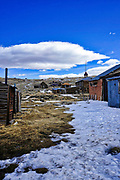 Historic Wooden Buildings and Houses in Bodie Ghost Town