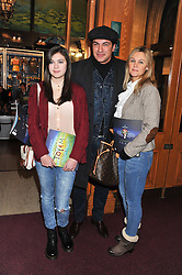 Actor TAMER HASSAN with his wife KAREN and daughter BELLE attend the premier of 2012 Cirque du Soleil's Totem at the Royal Albert Hall, London on 5th January 2012,