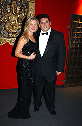 "LADY LUCINDA SAVILE and MR PETER D'EUGENIO at the 10th annual British Red Cross London Ball.  This years ball theme was Indian based - ""Yaksha - Yakshi: Doorkeepers to the Divine"" and was held at The Room, Upper Ground, London on 1st December 2004.  Proceeds from the ball will aid vital humanitarian work, including HIV/AIDS projects that the Red Cross supports in the UK and overseas.<br />