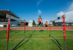 Peter Prevc during fitness training of Slovenian Ski jumping Men team, on May 8, 2018 in Stadium Kranj, Slovenia. Photo by Vid Ponikvar / Sportida
