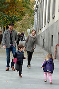 25.NOVEMBER.2012. MADRID<br /> <br /> REAL MADRID FOOTBALLER XABI ALONSO CELEBRATES HIS 31ST BIRTHDAY WITH WIFE NAGORE ARAMBURU AND CHILDREN JON AND ANNE IN MADRID.<br /> <br /> BYLINE: EDBIMAGEARCHIVE.CO.UK<br /> <br /> *THIS IMAGE IS STRICTLY FOR UK NEWSPAPERS AND MAGAZINES ONLY*<br /> *FOR WORLD WIDE SALES AND WEB USE PLEASE CONTACT EDBIMAGEARCHIVE - 0208 954 5968*