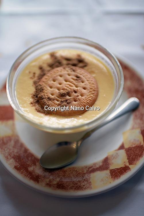 Housemade natillas, traditional custard dish
