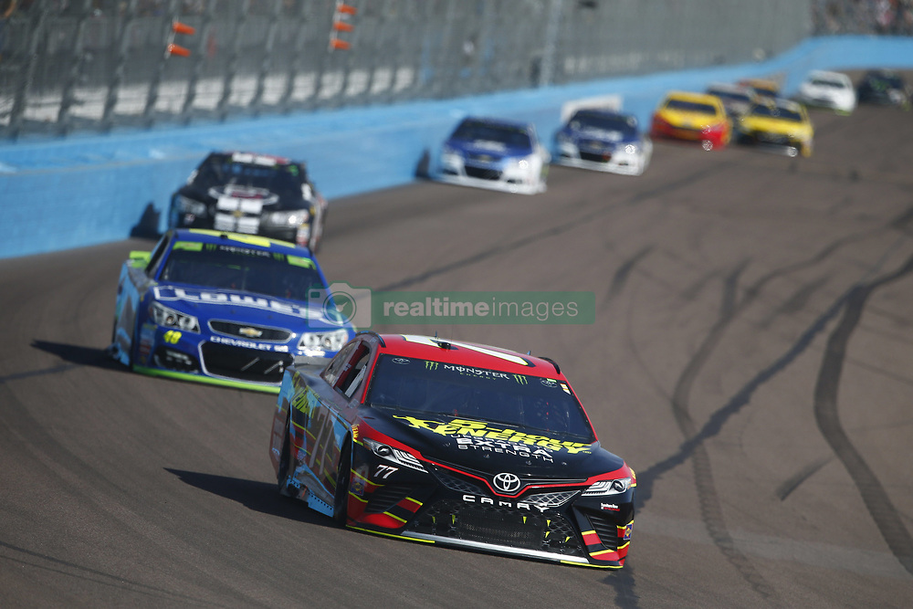 November 12, 2017 - Avondale, Arizona, United States of America - November 12, 2017 - Avondale, Arizona, USA: Erik Jones (77) battles for position during the Can-Am 500(k) at Phoenix Raceway in Avondale, Arizona. (Credit Image: © Justin R. Noe Asp Inc/ASP via ZUMA Wire)