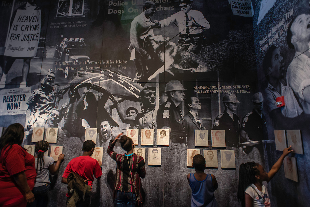 MONTGOMERY, AL -- 5/25/17 -- The Civil Rights Memorial Center is located in the former headquarters of the Southern Poverty Law Center. Dedicated to telling the story of the Civil Rights Movement, the museum sees 40,000 visitors a year. Students from the Kidz Visions Learning Center in Montgomery participate in a field trip to the museum.<br /> Civil Rights attorney Morris Dees co-founded the Southern Poverty Law Center in 1971. The group has taken on the Ku Klux Klan and fought for against hate for decades, but is now facing criticism that it has labeled some groups without just cause..&hellip;by Andr&eacute; Chung #_AC20034