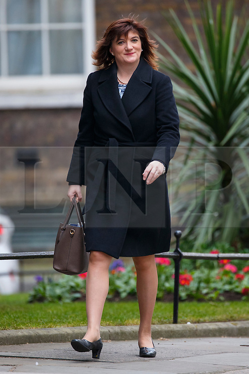 © Licensed to London News Pictures. 16/03/2016. London, UK. Education Secretary NICKY MORGAN attending to a cabinet meeting in Downing Street on the Budget Day, Wednesday, 16 March 2016. Photo credit: Tolga Akmen/LNP