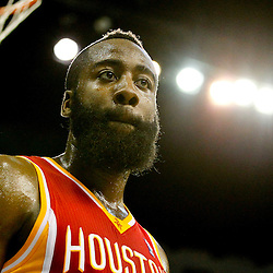 Jan 9, 2013; New Orleans, LA, USA; Houston Rockets shooting guard James Harden (13) against the New Orleans Hornets during  the second quarter of a game at the New Orleans Arena. Mandatory Credit: Derick E. Hingle-USA TODAY Sports