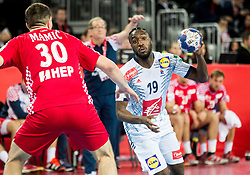 Luc Abalo of France during handball match between National teams of Croatia and France on Day 7 in Main Round of Men's EHF EURO 2018, on January 24, 2018 in Arena Zagreb, Zagreb, Croatia.  Photo by Vid Ponikvar / Sportida