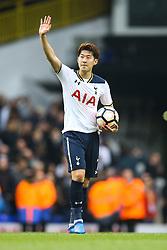 Son Heung-Min of Tottenham Hotspur celebrates with the game ball - Mandatory by-line: Jason Brown/JMP - 12/03/2017 - FOOTBALL - White Hart Lane - London, England - Tottenham Hotspur v Millwall - Emirates FA Cup Quarter Final